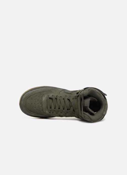 Sneaker Nike Air Force 1 High Lv8 (Gs) grün ansicht von links