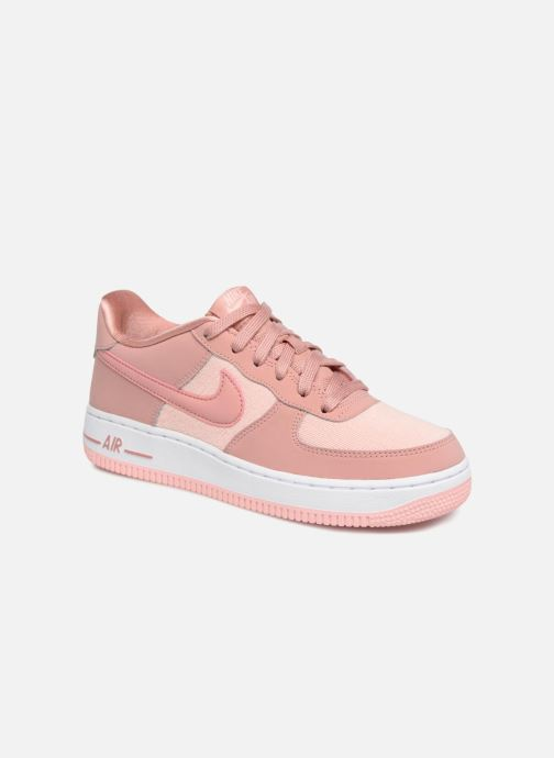 Trainers Nike Air Force 1 Lv8 (Gs) Pink detailed view/ Pair view