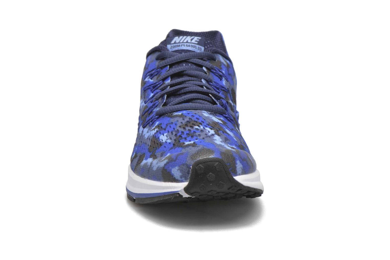 Baskets Nike Nike Zoom Pegasus 33 Print Gs Bleu vue portées chaussures