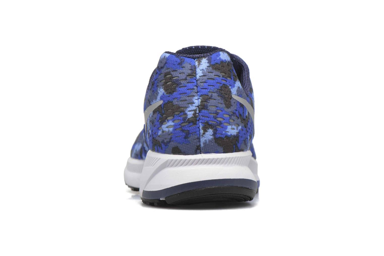 Baskets Nike Nike Zoom Pegasus 33 Print Gs Bleu vue droite