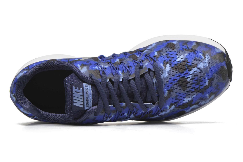 Baskets Nike Nike Zoom Pegasus 33 Print Gs Bleu vue gauche