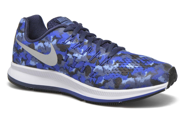 Baskets Nike Nike Zoom Pegasus 33 Print Gs Bleu vue détail/paire