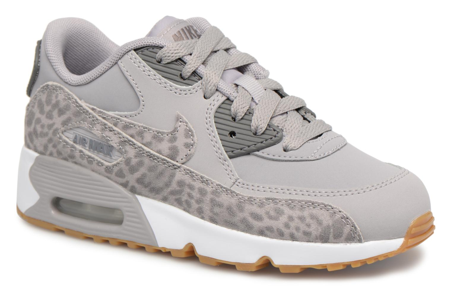 Baskets Nike Nike Air Max 90 Se Ltr (Ps) Gris vue détail/paire