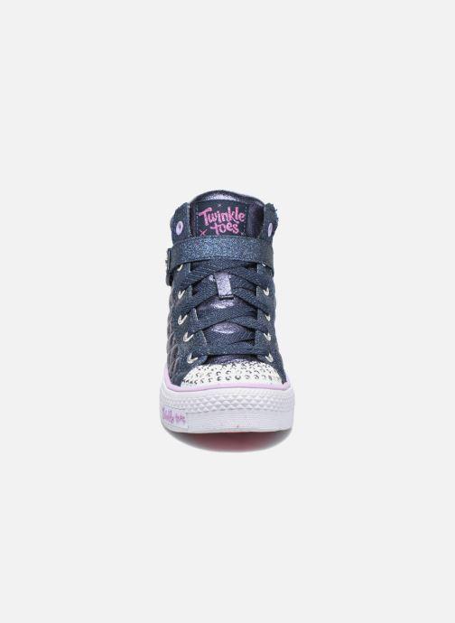 Sneaker Skechers Shuffles Sweetheart Sole blau schuhe getragen