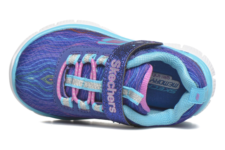 Sneaker Skechers Skech Appeal Sittin' Pretty blau ansicht von links