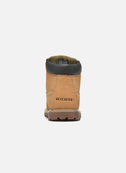 Boots en enkellaarsjes Skechers Mecca Mitigate Beige rechts