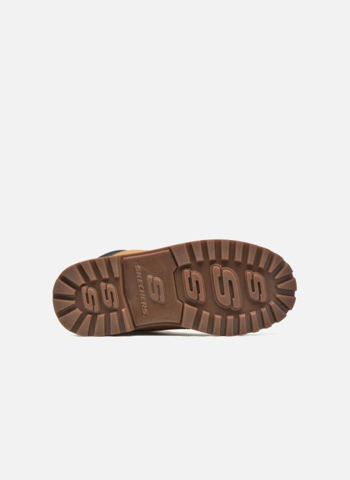 Boots en enkellaarsjes Skechers Mecca Mitigate Beige boven