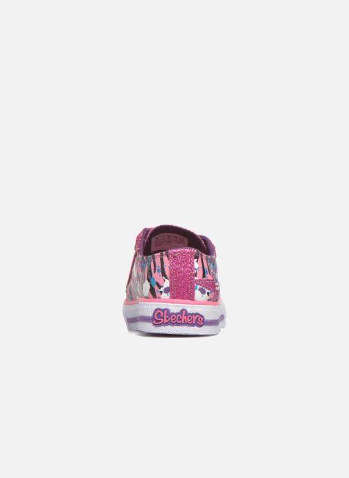 Deportivas Skechers Shuffles Glitter N Glitz Little Rosa vista lateral derecha