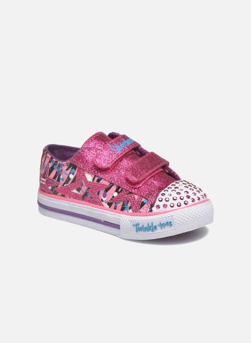 Deportivas Skechers Shuffles Glitter N Glitz Little Rosa vista de detalle / par