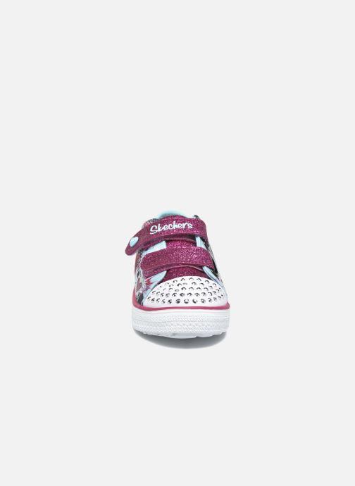 Baskets Skechers Twinkle Breeze Bleu vue portées chaussures