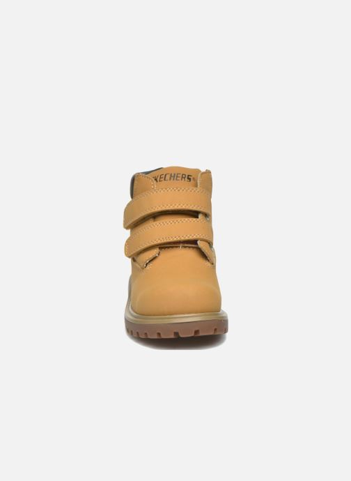 Ankelstøvler Skechers Mecca Brazenly Beige se skoene på