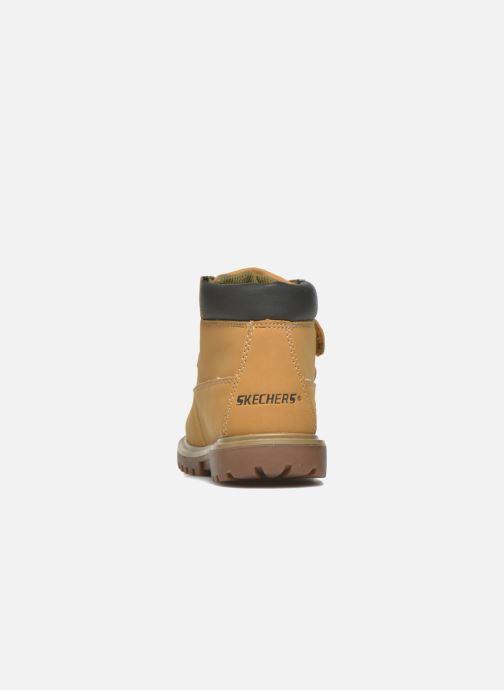 Boots en enkellaarsjes Skechers Mecca Brazenly Beige rechts