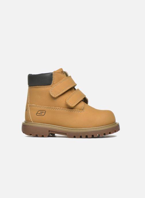 Boots en enkellaarsjes Skechers Mecca Brazenly Beige achterkant