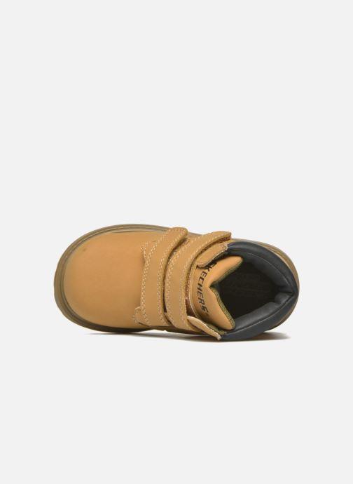 Boots en enkellaarsjes Skechers Mecca Brazenly Beige links