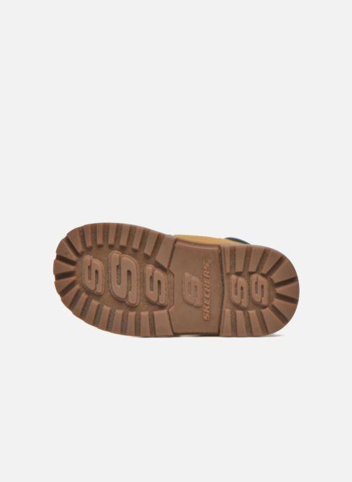 Boots en enkellaarsjes Skechers Mecca Brazenly Beige boven