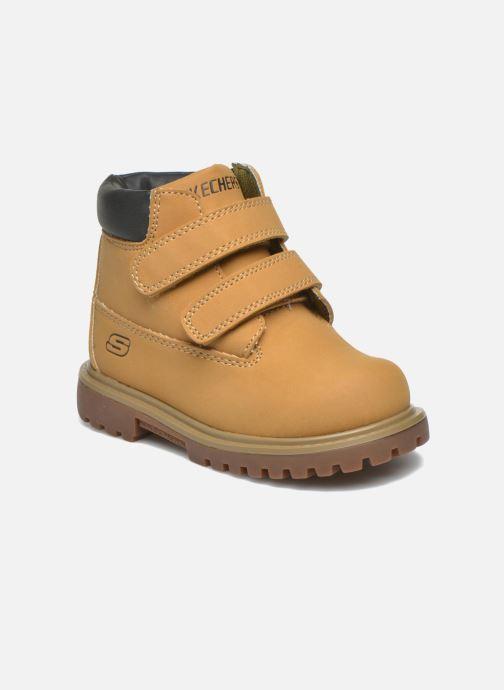 Ankelstøvler Skechers Mecca Brazenly Beige detaljeret billede af skoene