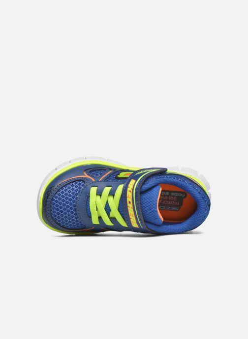 Baskets Skechers Flex Advantage Mini Race Bleu vue gauche