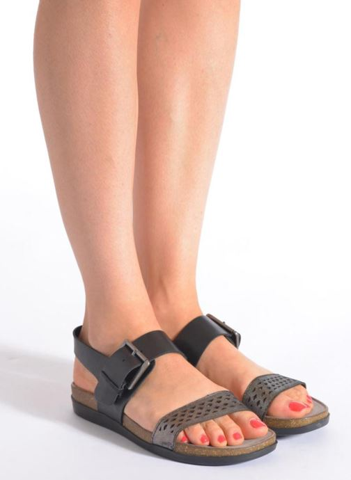 Sandales et nu-pieds Rockport Romilly Buckled Noir vue bas / vue portée sac