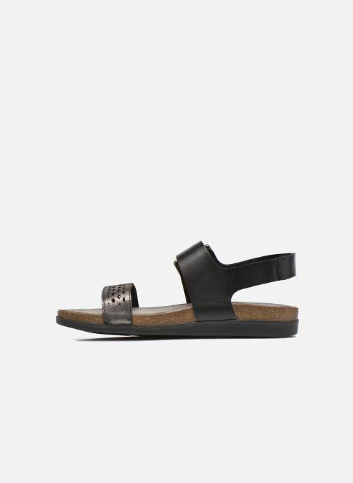 Sandales et nu-pieds Rockport Romilly Buckled Noir vue face