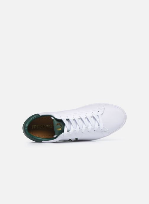Baskets Fred Perry Spencer Leather Blanc vue gauche