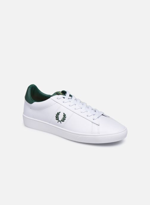 Baskets Fred Perry Spencer Leather Blanc vue détail/paire