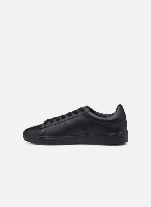 Baskets Fred Perry Spencer Leather Noir vue face