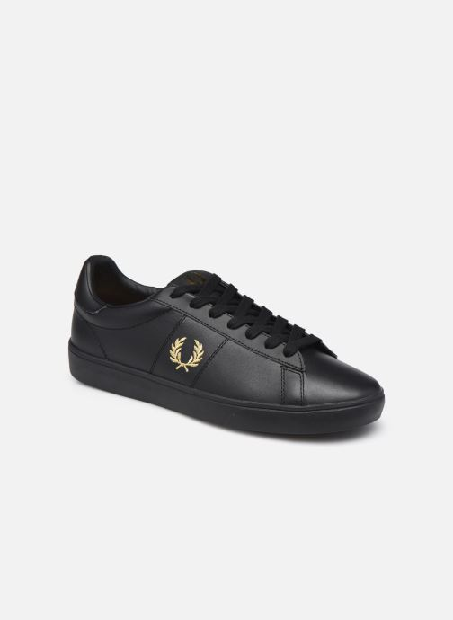 Baskets Fred Perry Spencer Leather Noir vue détail/paire