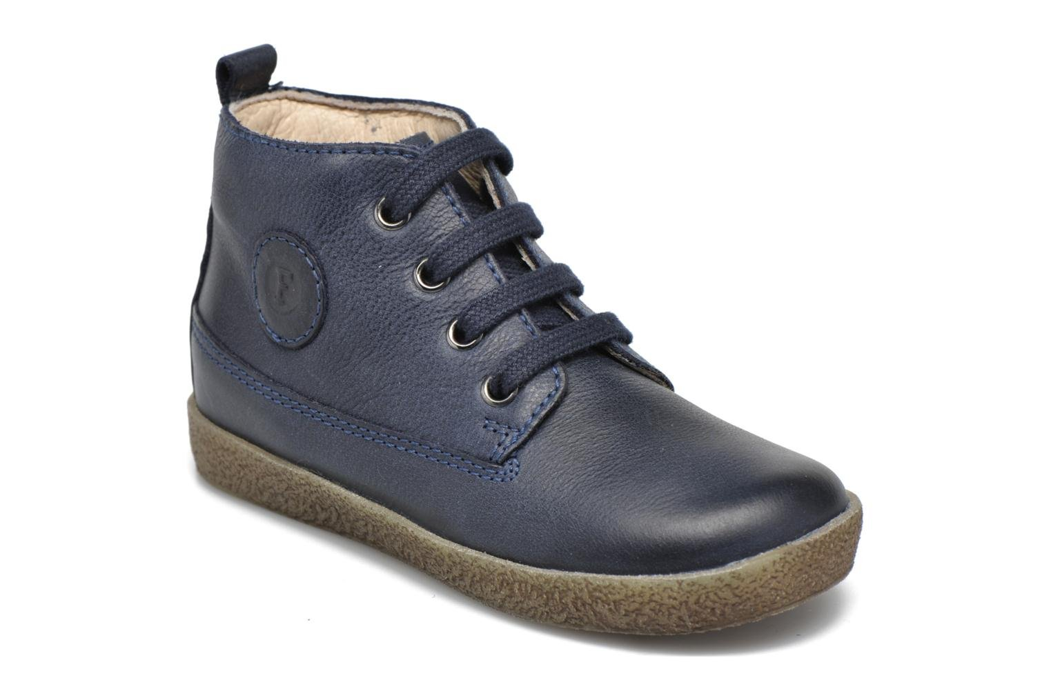 Lace-up shoes Naturino Falcotto 1196 Blue detailed view/ Pair view