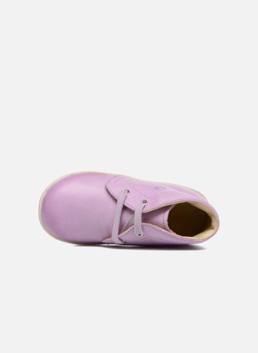 Zapatos con cordones Naturino Falcotto 1195 Violeta      vista lateral izquierda