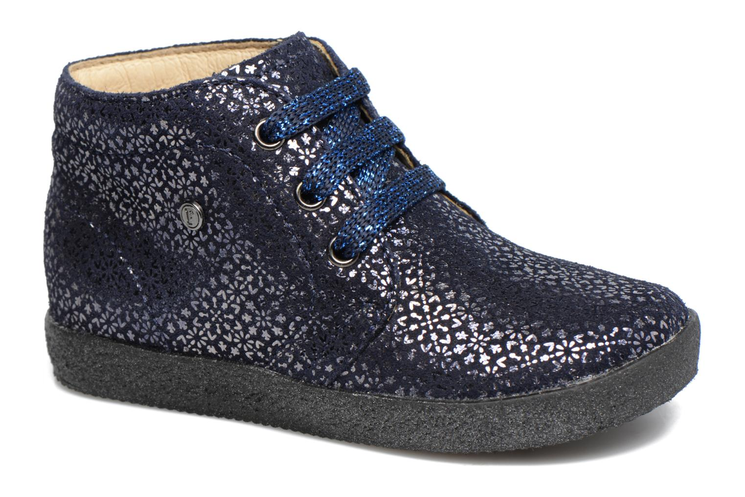 Lace-up shoes Naturino Falcotto 1195 Blue detailed view/ Pair view
