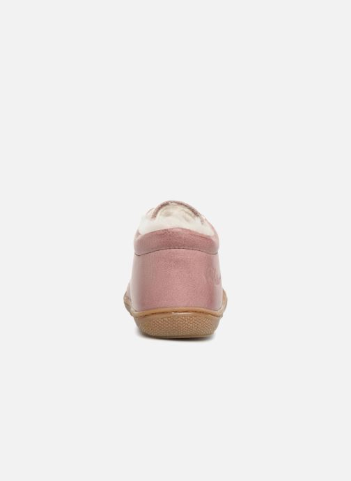 Chaussures à lacets Naturino Cocoon Warm Rose vue droite