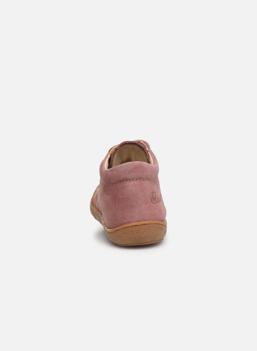 Chaussures à lacets Naturino Cocoon Warm Rose vue droite