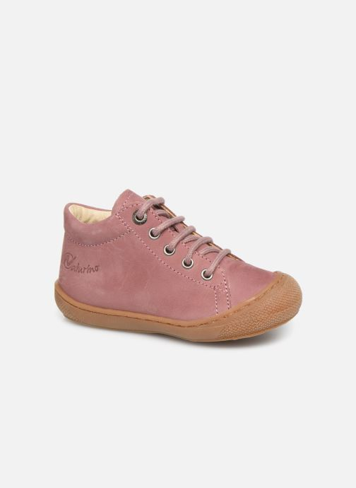 Chaussures à lacets Naturino Cocoon Warm Rose vue détail/paire