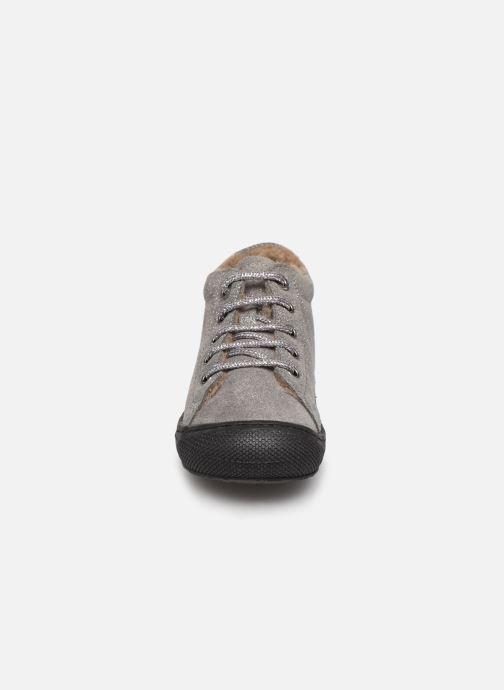 Schnürschuhe Naturino Cocoon Warm grau schuhe getragen