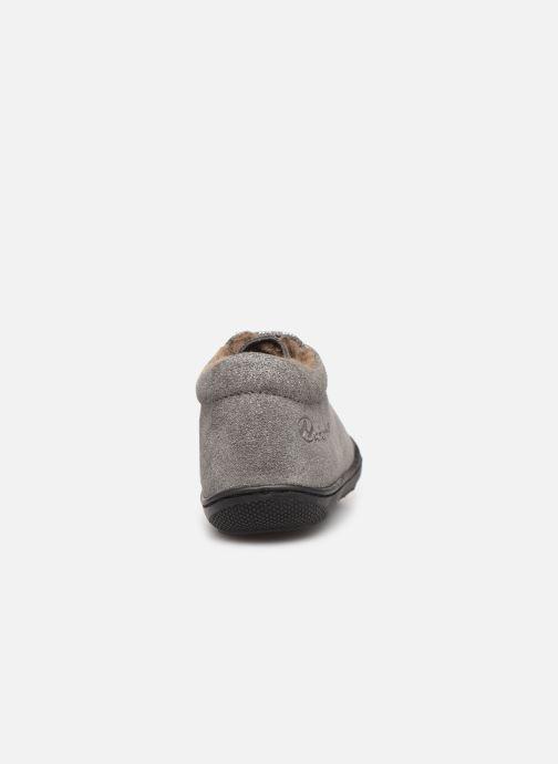 Zapatos con cordones Naturino Cocoon Warm Gris vista lateral derecha