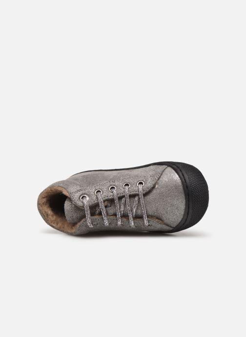 Zapatos con cordones Naturino Cocoon Warm Gris vista lateral izquierda