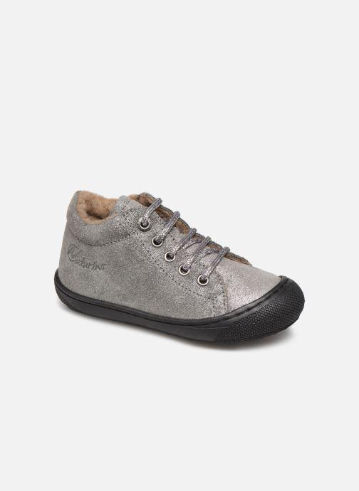 Zapatos con cordones Naturino Cocoon Warm Gris vista de detalle / par
