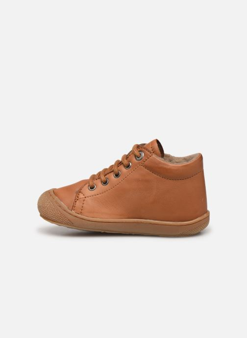 Lace-up shoes Naturino Cocoon Warm Brown front view
