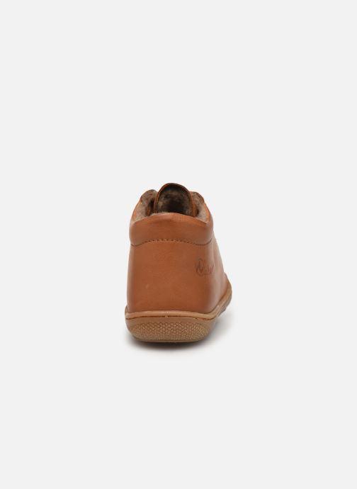 Zapatos con cordones Naturino Cocoon Warm Marrón vista lateral derecha