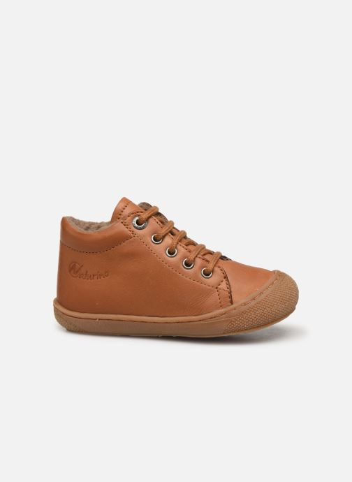 Lace-up shoes Naturino Cocoon Warm Brown back view