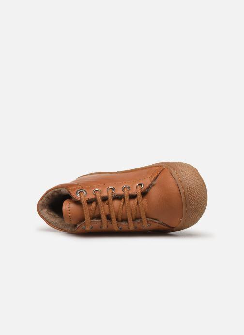 Zapatos con cordones Naturino Cocoon Warm Marrón vista lateral izquierda