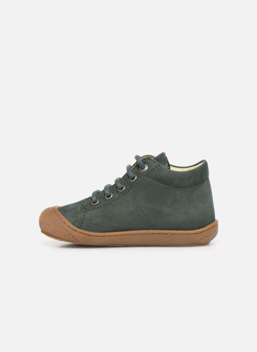 Chaussures à lacets Naturino Cocoon Warm Vert vue face