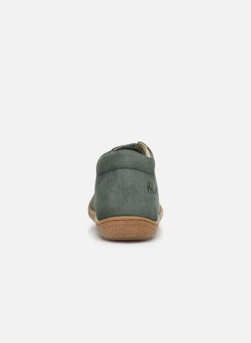 Chaussures à lacets Naturino Cocoon Warm Vert vue droite
