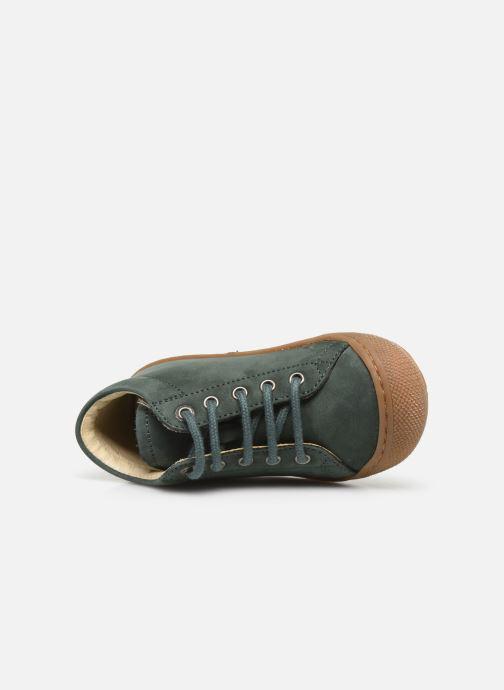Chaussures à lacets Naturino Cocoon Warm Vert vue gauche