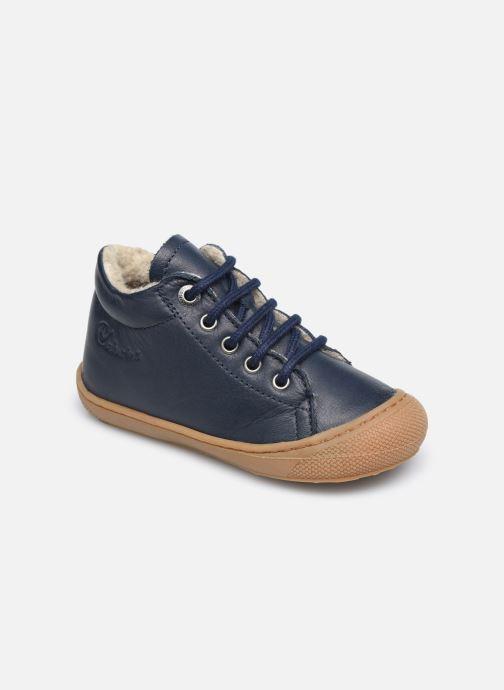 Zapatos con cordones Naturino Cocoon Warm Azul vista de detalle / par