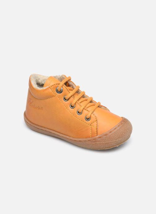 Chaussures à lacets Naturino Cocoon Warm Jaune vue détail/paire