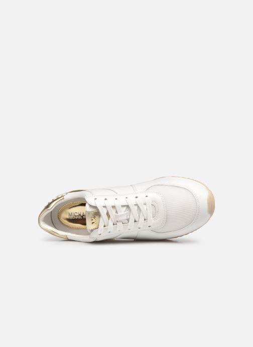 Baskets Michael Michael Kors Allie Wrap Trainer Blanc vue gauche