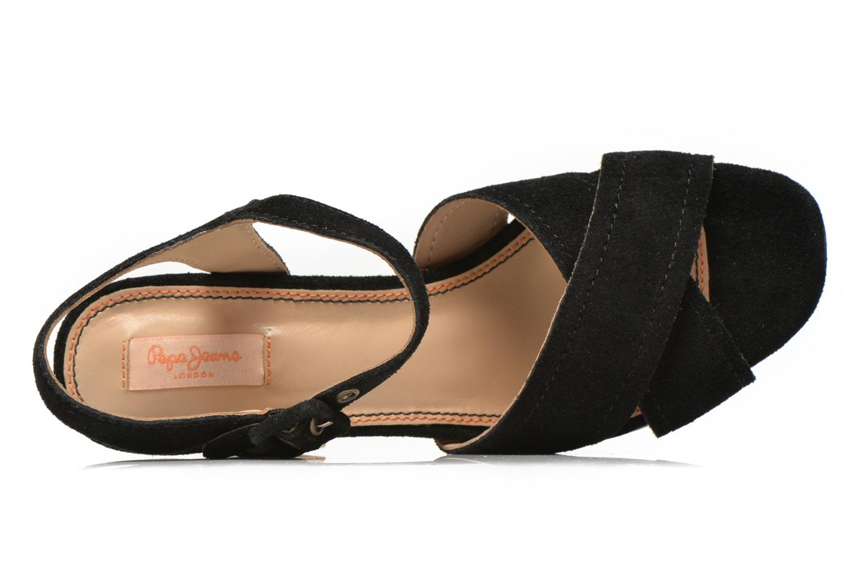 Sandales et nu-pieds Pepe jeans Grace suede Noir vue gauche