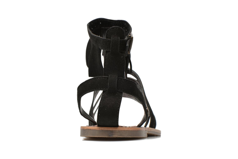 Sandalias Pepe jeans Jane fringes Negro vista lateral derecha