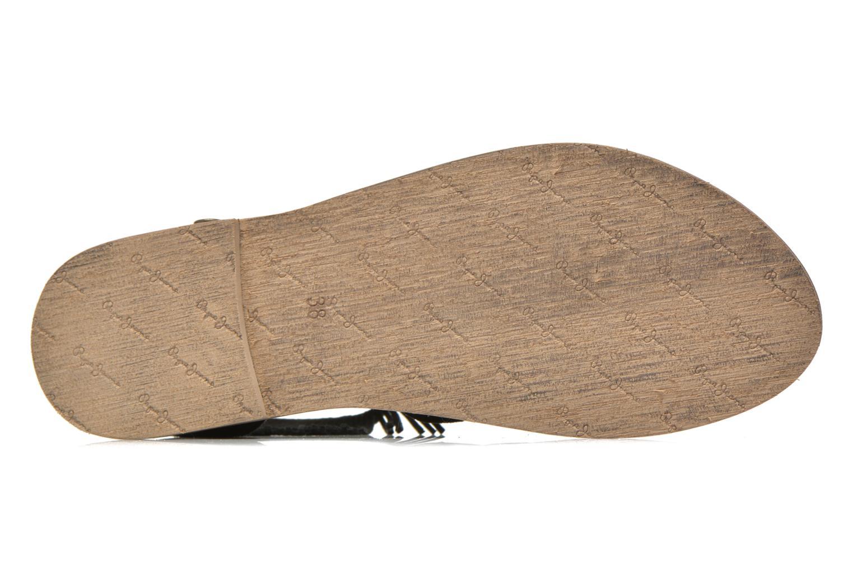 Sandalias Pepe jeans Jane fringes Negro vista de arriba